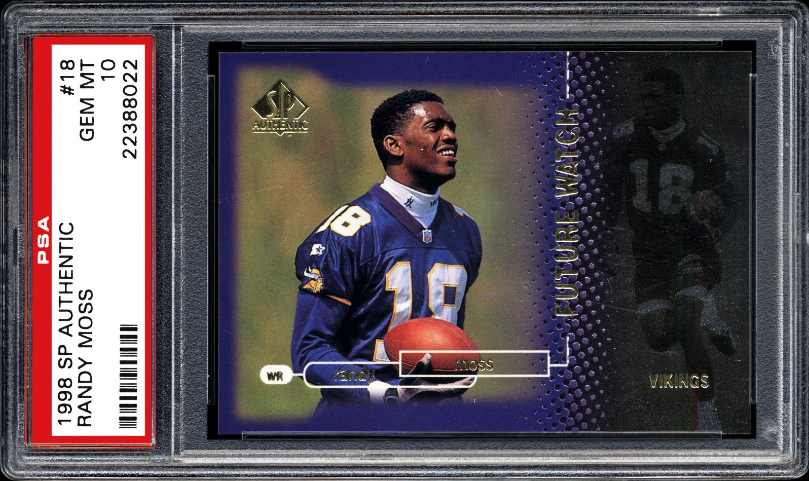 buy online 262e4 338b3 1998 SP Authentic Randy Moss | PSA CardFacts™