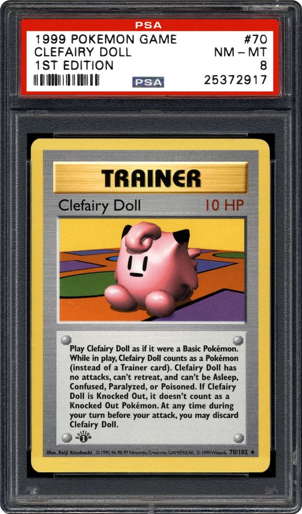 Pokemon card Base Set  #70 Clefairy Doll