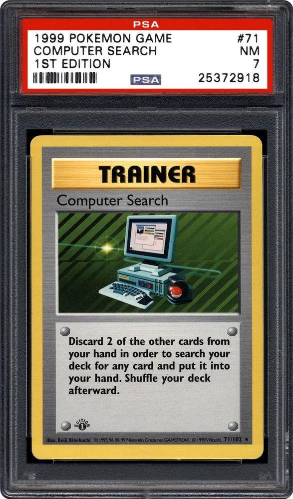 1999 nintendo pokemon game computer search 1st edition psa