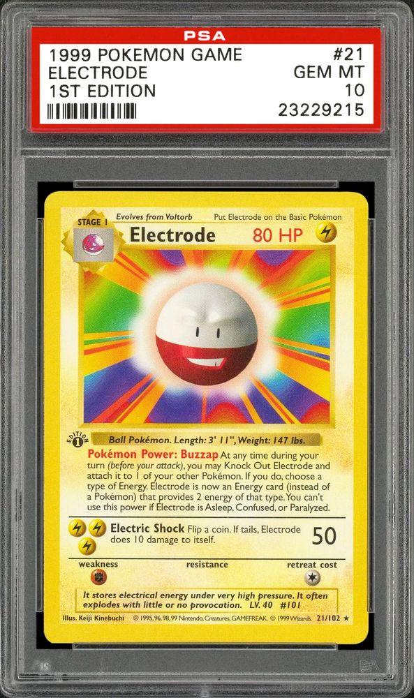 1999 Nintendo Pokemon Game Electrode (1st Edition) | PSA
