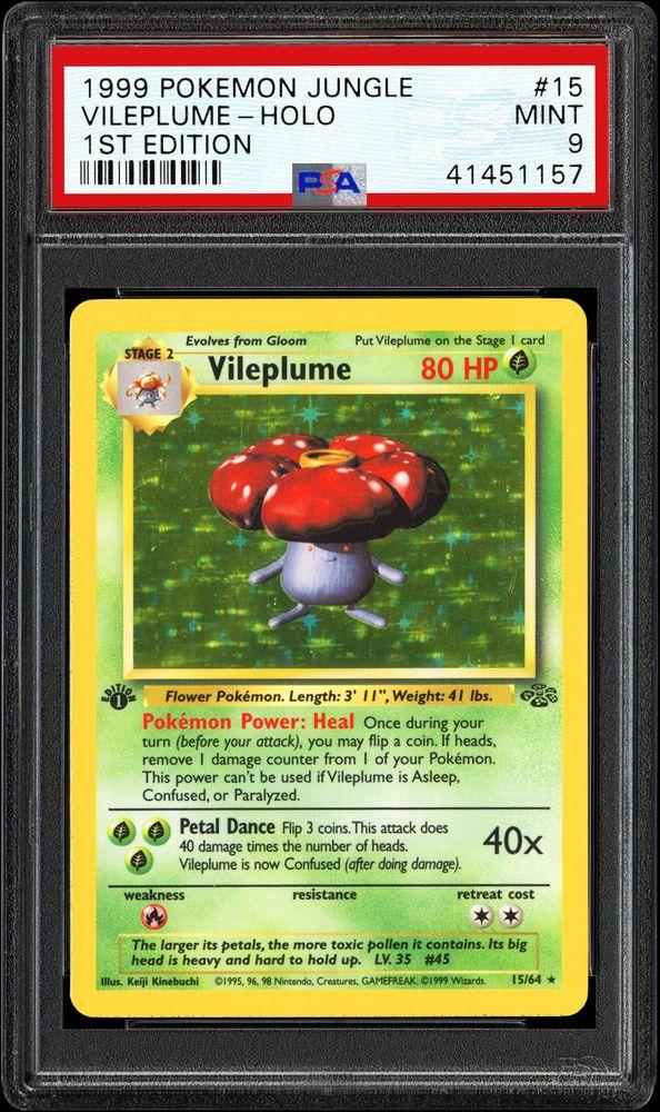 1st Edition Moderately Played Pokemon G1 Jungle Rare 31//64 1x Vileplume