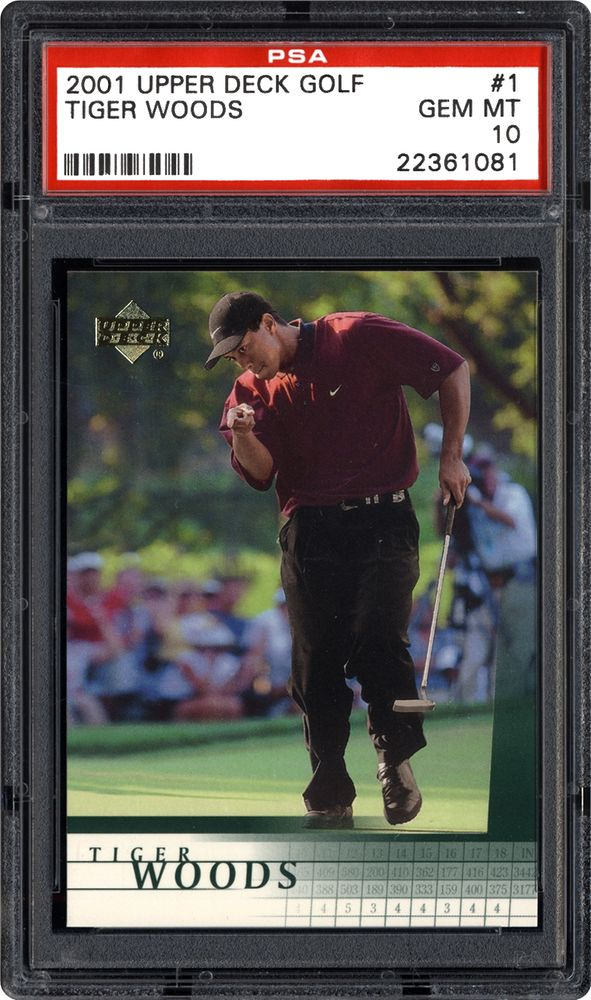2001 Upper Deck Golf Tiger Woods Psa Cardfacts