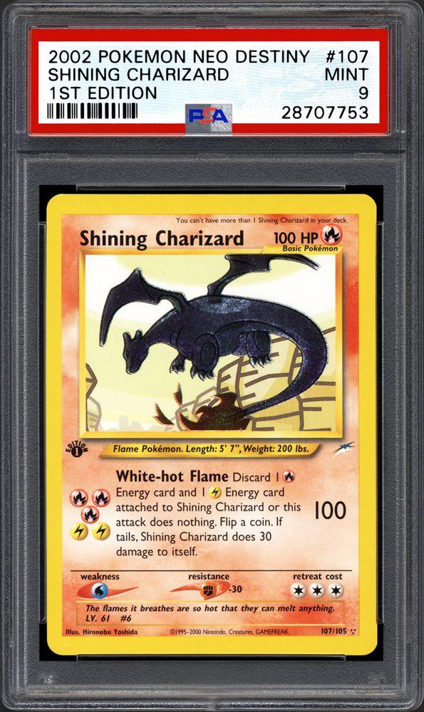 2002 Nintendo Pokemon Neo Destiny Shining Charizard 1st Edition