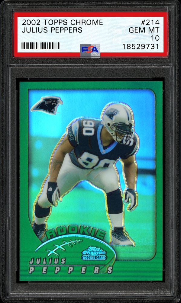 2002 Topps Chrome Football Cards - PSA SMR Price Guide