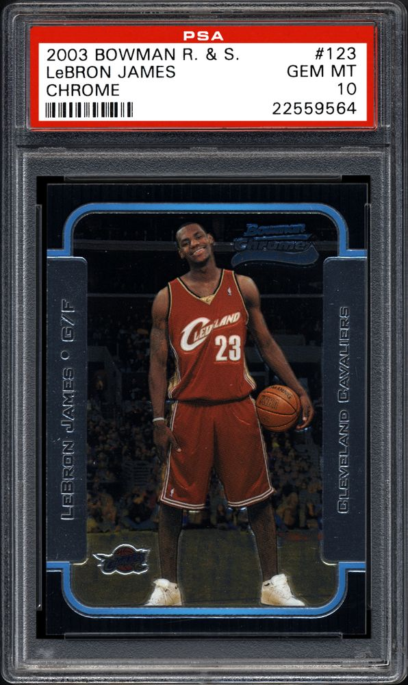 2003 Bowman Chrome Rookies Stars Lebron James Chrome