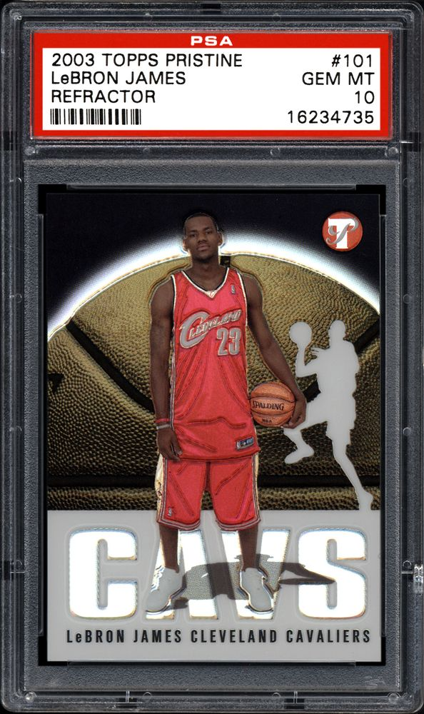 2003 Topps Pristine Lebron James Refractor Psa Cardfacts
