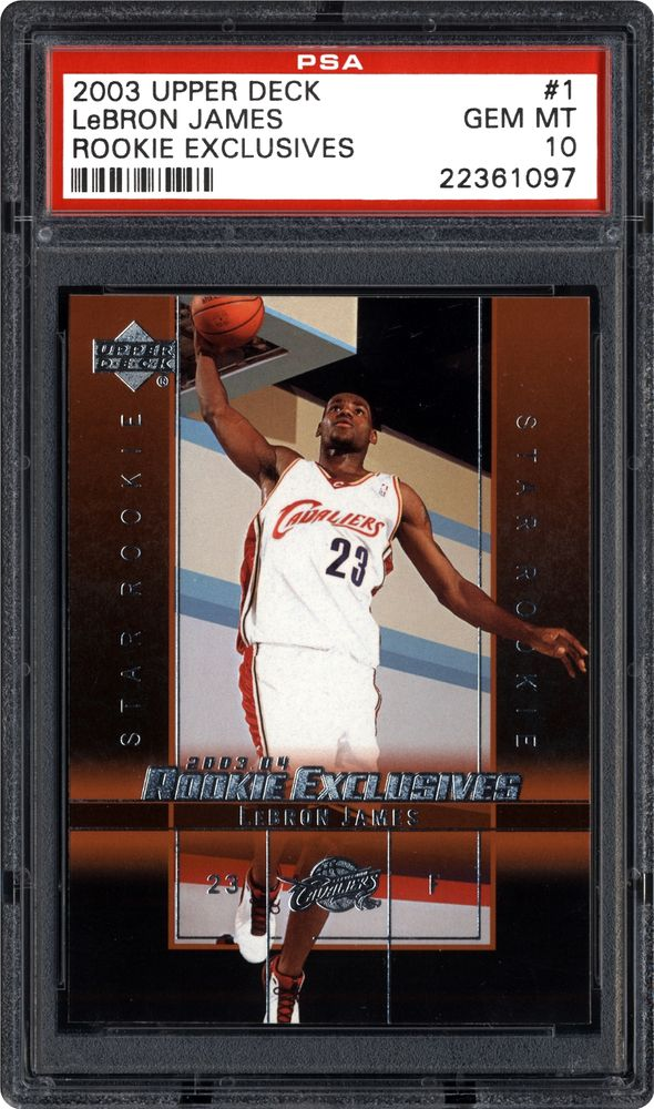 2003 Upper Deck Rookie Exclusives Lebron James Rookie