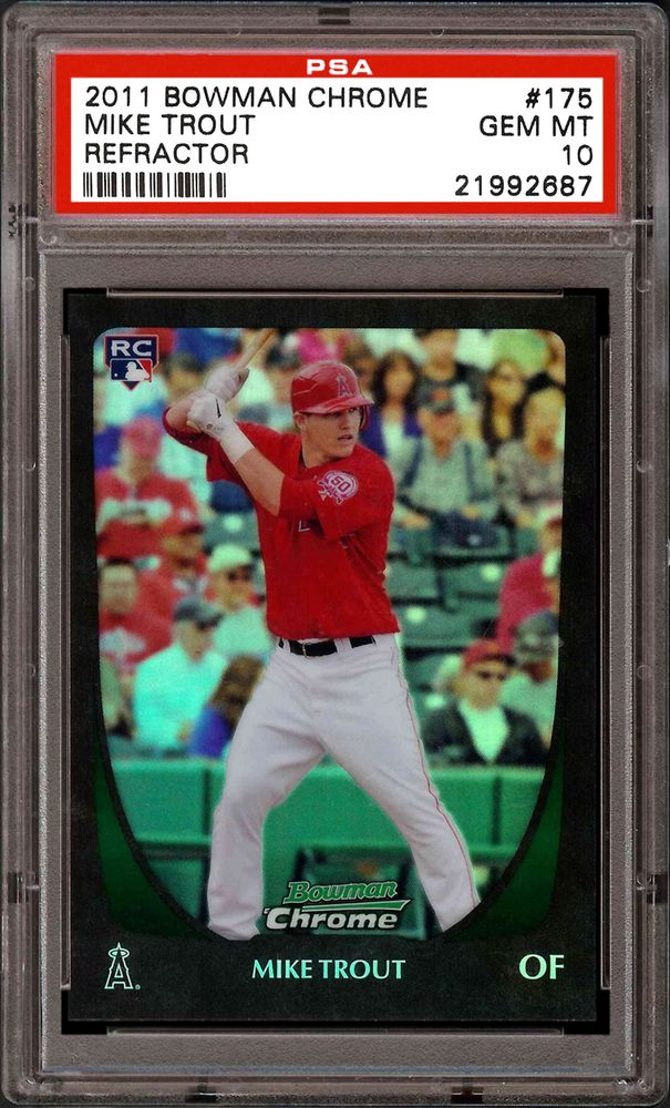 2011 Bowman Chrome Mike Trout Refractor Psa Cardfacts