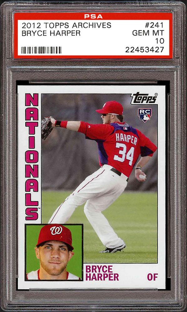 2012 Topps Archives Bryce Harper Psa Cardfacts
