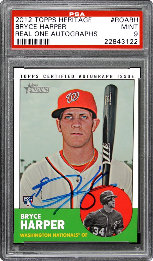 Baseball Cards 2012 Topps Heritage Real One Autographs Psa
