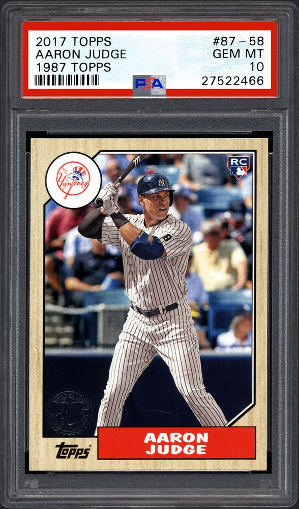 2017 Topps 1987 Topps Aaron Judge Psa Cardfacts