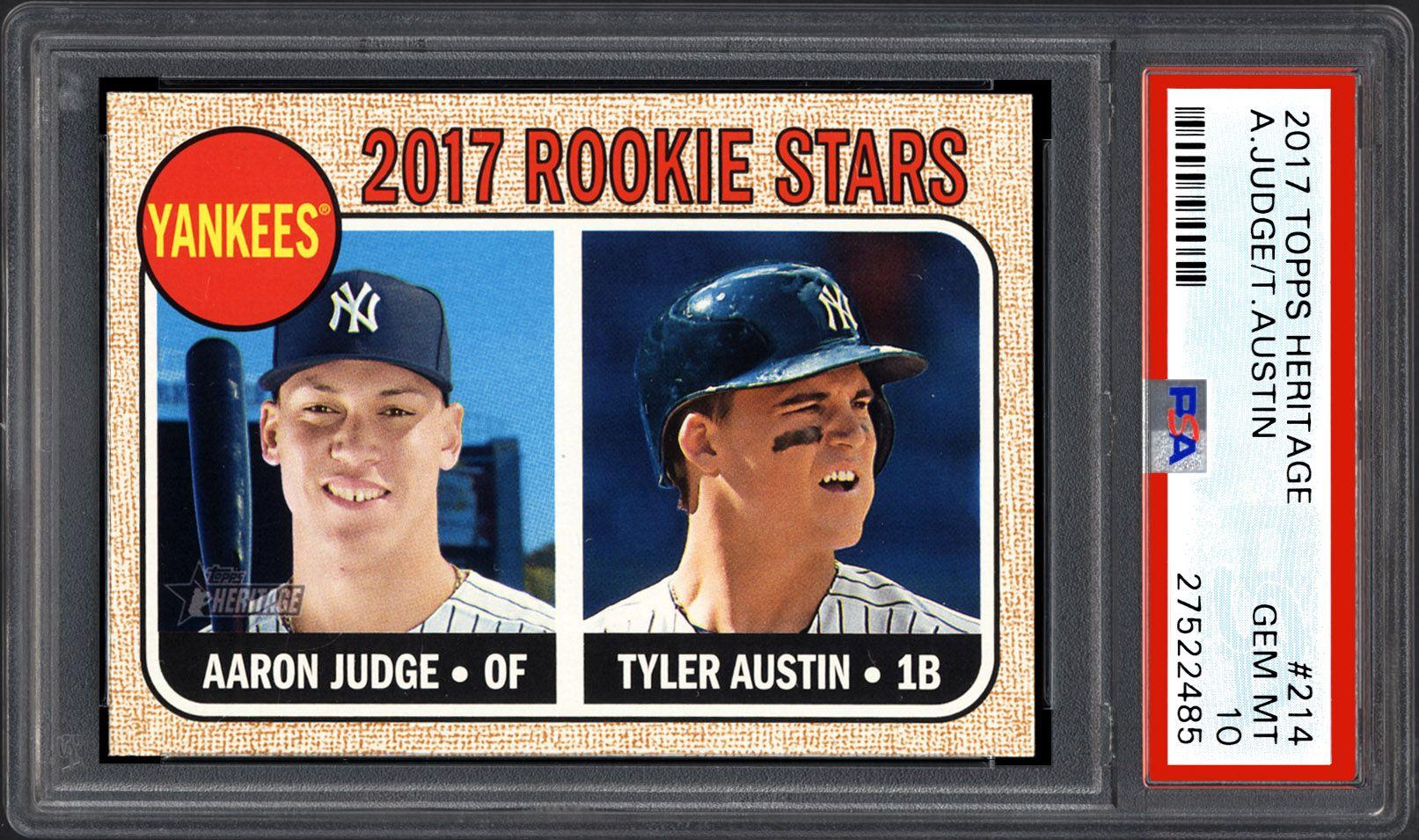 2017 Topps Heritage Baseball Cards Psa Smr Price Guide