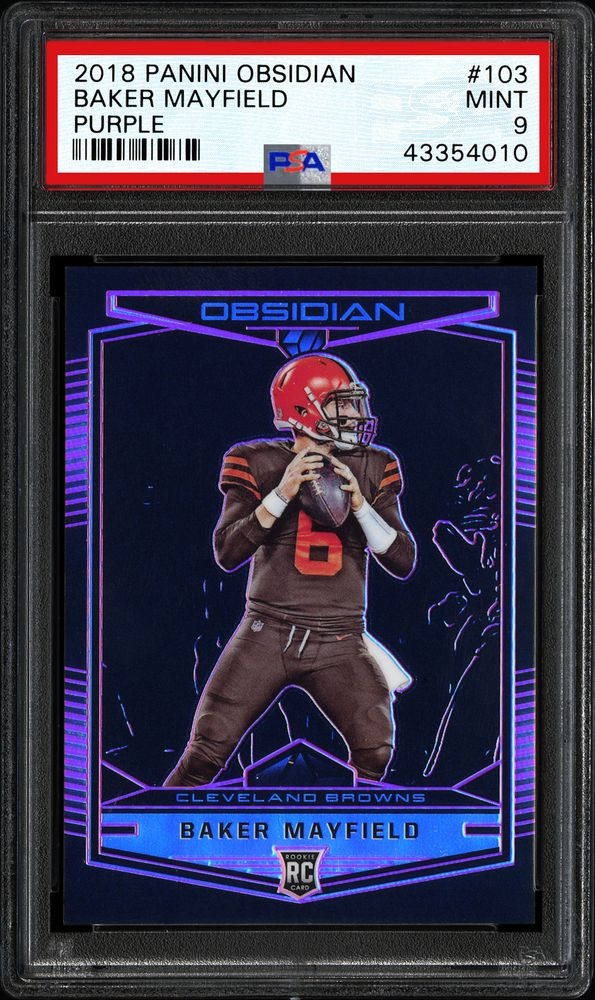 football cards  2018 panini obsidian  psa cardfacts®