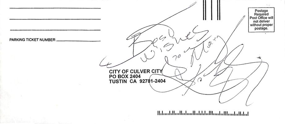 Kobe Bryant Signed and Inscribed Envelope
