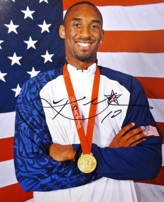 Kobe Bryant Signed Olympic photo