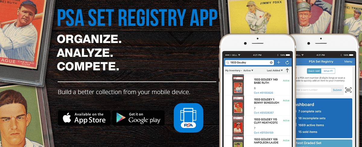 PSA Set Registry App - Card Collecting