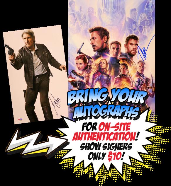 Comic-Con Autograph Authentication