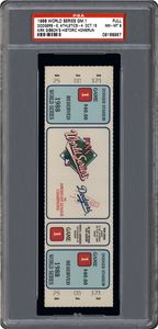 1988 World Series Game 1 Full Ticket - Dodgers 5, Athletics 4 (Oct. 15 - Kirk Gibson's Historic Homerun)