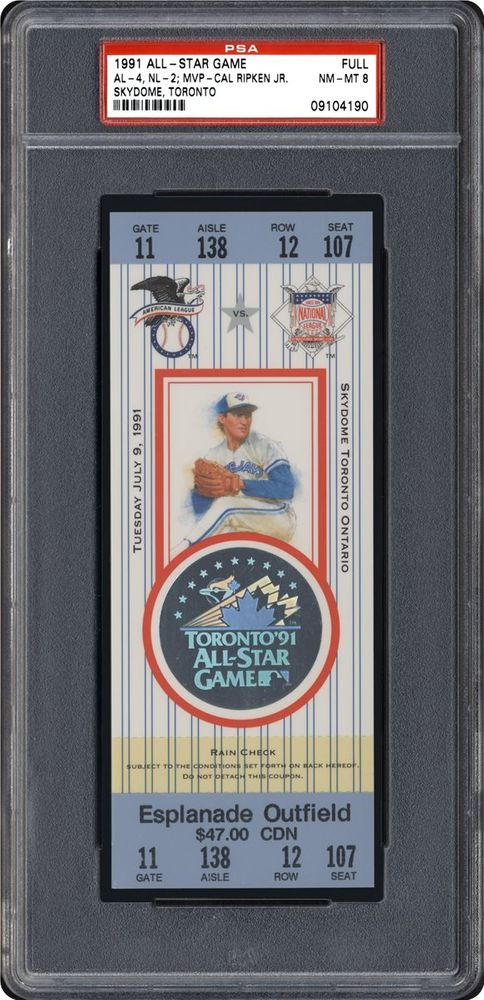1991 All-Star Game | PSA TicketFacts™